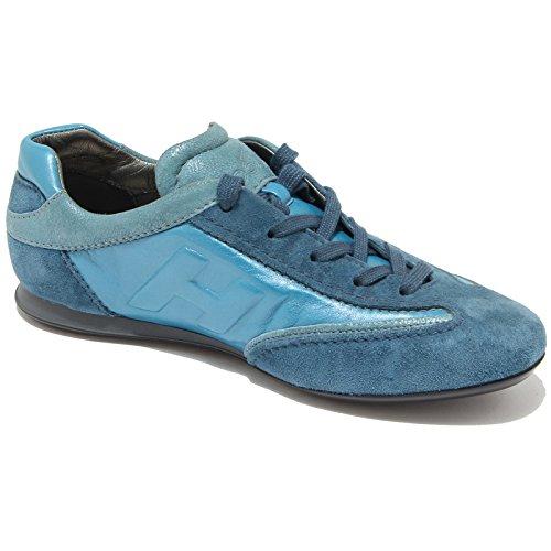 0336G sneaker HOGAN OLYMPIA SLASH scarpa donna shoes women Turchese