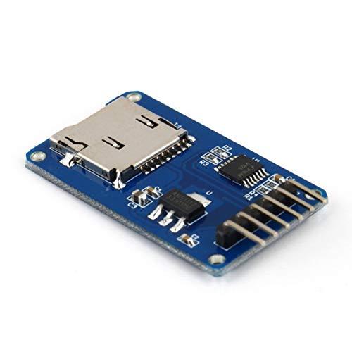 Secure Digital Microsd (bienddyicho Scheda di Memoria Secure Digital TF Card Memory Shield Modulo SPI Scheda di espansione Micro SD Memory per modulo Arduino-blu)