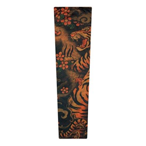 ManoaShark Tattoo Sleeves Skin Ärmel Fake Tätowierung Tattoärmel Sleeve Fasching Kostüm Bengal Tiger (Realistische Tiger-kostüm)