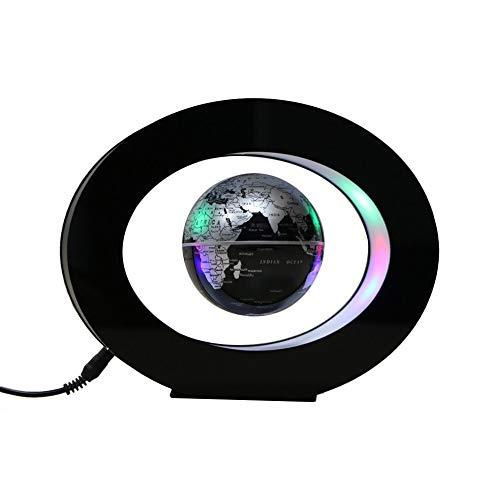Decdeal O Form Schwebender Globus Acryl Magnetisch Kugel Rotierend Erde Weltkarte mit Farbigen LED Leuchten für Kinder Geschenk Unterricht Schreibtisch Dekoration 225mm x 178mm (Acryl-globus-leuchte)