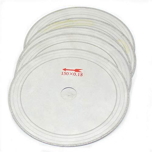 Yongse 10 Stück 6 Zoll 0.43mm Super-Thin Diamond Lapidary Saw Blades 150mmx20mm Gems Trennscheibe