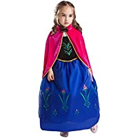 ELSA & ANNA® Princesa Disfraz Traje Parte Las Niñas Vestido (Girls Princess Fancy Dress) ES-FBA-ANNA2 (4-5 Años, ES-ANNA2)
