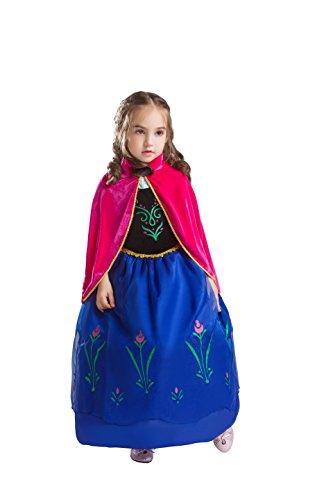 ELSA & ANNA® Mädchen Prinzessin Kleid Verrücktes Kleid -