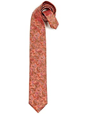Trachten Krawatte - HIRSCH-PAISLEY - rot, beige