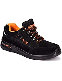Black Hammer Mens Safety Boots Steel Toe Cap Work Shoes Ankle Trainers Hiker Protective Mid Sole S1P SRC 9952