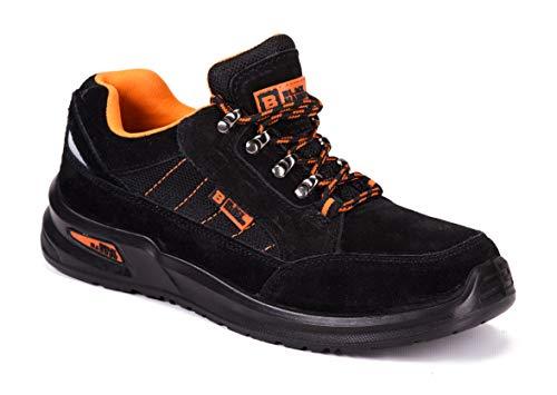 Botas para Hombre De Seguridad Puntera De Acero Zapatos De Trabajo Senderismo Plantilla De Protección...