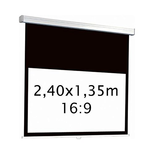 kimex-042-3415-ecran-de-projection-electrique-240-x-135m-format-16-9-carter-blanc