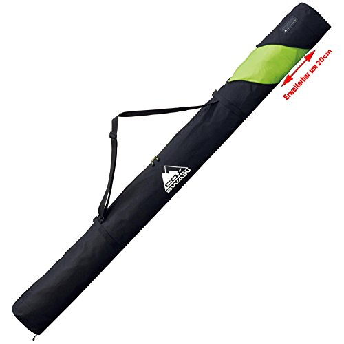COX SWAIN Ski Tasche JOFFRE - 165 bis 185 cm - Platinum Kollektion, Colour: Black/ Green, Size: One size