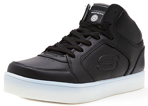 Skechers Jungen Energy Lights Sneaker, Schwarz (Black), 33.5 EU (Led Blk-red)