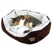 Toruiwa Cama para mascatas Cojin Perro Gatos Cama Perros Cama de Lujo de Cachorros Fácil de Limpiar Cama para Mascotas con Tapa extraíble