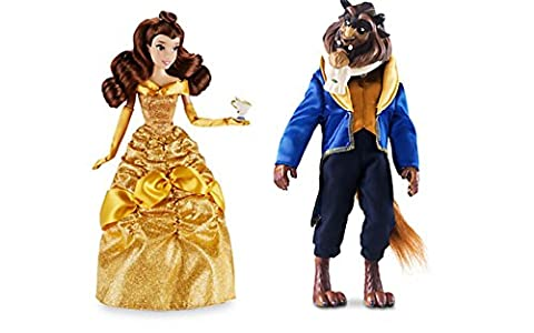 NEW 2016 Disney Store Princess Belle with Chip and Beast Classic Doll Set ~ Beauty & the Beast by Disney