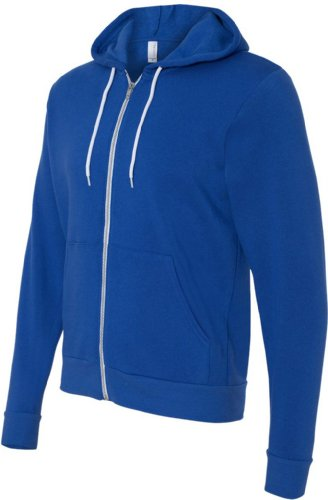 Bella+Canvas: Unisex Poly-Cotton Full Zip Hoodie 3739 True Royal