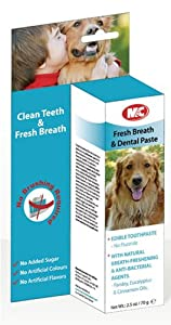 M&C Fresh Breath & Dental Paste Edible Toothpaste for Dogs 70g (Pack of 2)