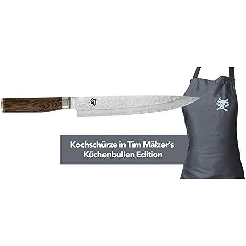 KAI Europe TDM1704-W15 Shun Premier Tim - Juego de cuchillos (cuchillo jamonero y delantal)