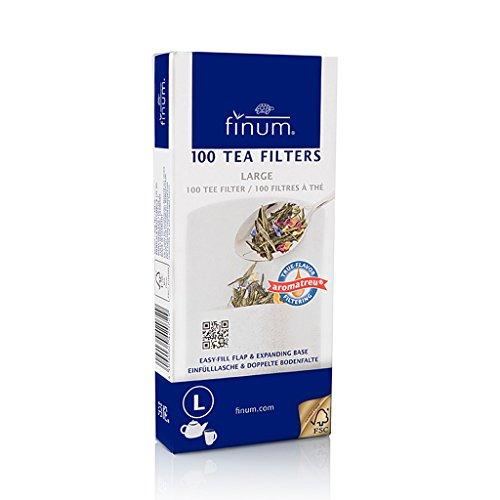 Finum - Papierfilter für Tee saboreatéycafé Größe L - Kaffee - Tee mit einmaligen Gebrauch - 100 Stück in Schachtel - Sauber - praktisch und hygienisch - Papier-tee-filter