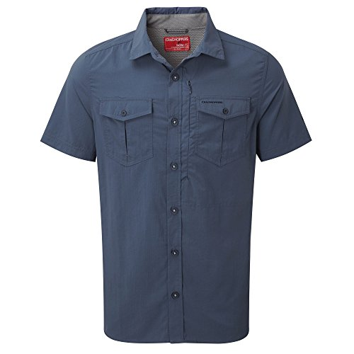 Craghoppers NosiLife Adventure Short Sleeve Shirt Dark Khaki