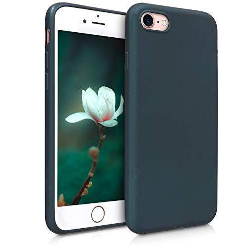 kwmobile Apple iPhone 7/8 Hülle - Handyhülle für Apple iPhone 7/8 - Handy Case in Metallic Petrol