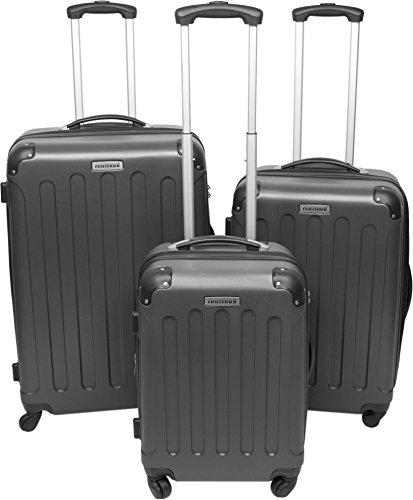 ABS Hartschalen Koffer Set von normani® in verschiedenen Farben und Ausführungen Farbe ANTHRAZIT