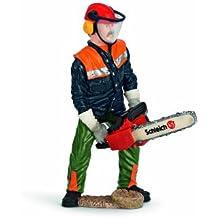 Schleich 13462 - Figurine - Ouvrier sylvicole avec tronçonneuse
