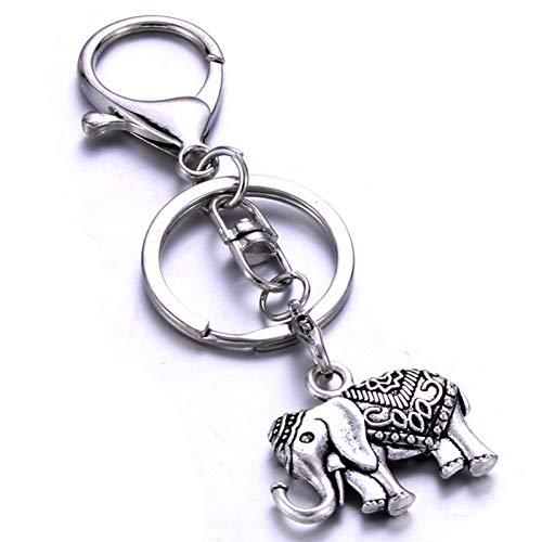 DCFVGB Schlüsselring Personalisierte Elefantenform Schlüsselbund Handgefertigte Edelstahl Geschenke Private Benutzerdefinierte Liebhaber Freunde -