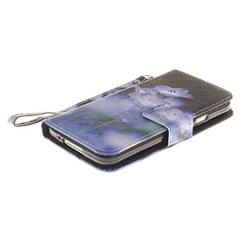 Custodia Samsung Galaxy S5, Sunroyal® Custodia in Pelle, in Piedi la Vista Diario Custodia Copertura di Vibrazione Portafoglio Flip Cover con Chiusura Magnetica per Samsung Galaxy S5 S V I9600 / S5 Ne Cinturino 04
