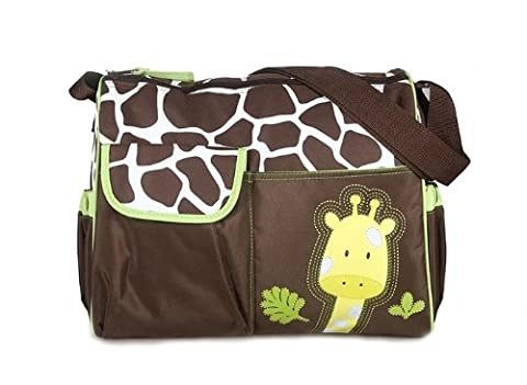 Adoraland Multifunctional Mummy Handbag Baby Diaper Nappy Changing Bag---Giraffe Pattern