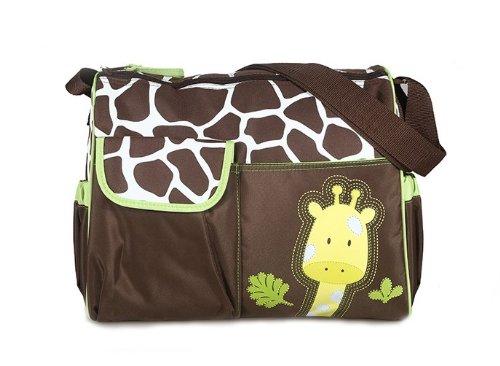 Sacchetto del Pannolino del Bambino Multifunzionale Borsa Fasciatoio Borsa Mummia Modello Giraffa