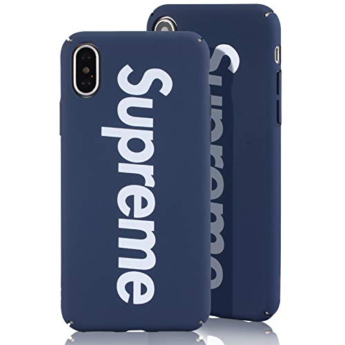 SUP PC Case [ Passend für Apple iPhone X/XS - 10, Navy Blau ] Supreme Design Schutzhülle - Feinmatte Hartschale - Ultra-Slim Cover (Supreme Case)