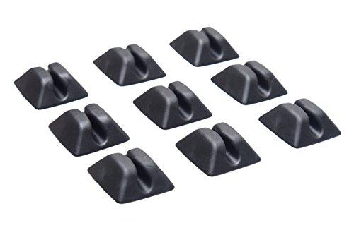 Preisvergleich Produktbild HR GRIP Kabelhalter-Set bestehend aus 9 Stk - schwarz [Selbstklebend | Made in Germany | wiederverwendbar] - 56910011