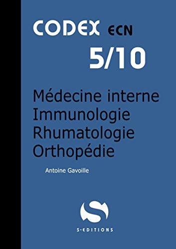 Médecine interne - Immuno-allergologie - Rhumatologie - Orthopédie