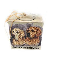 Royal County Golden Retrievers Candles Holder with Candle