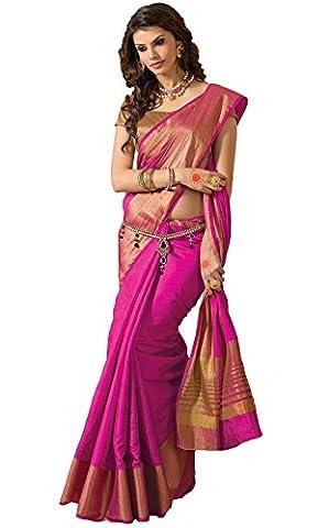 Sudarshan Silks Women's Ashika South Tussar Saree One Size