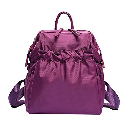 Yy.f Nuova Borsa A Tracolla Borse Di Nylon Borse Per Studenti Alti Signore Di Svago Borsa Da Viaggio Pratico Sacchetti Multicolori Interni Purple