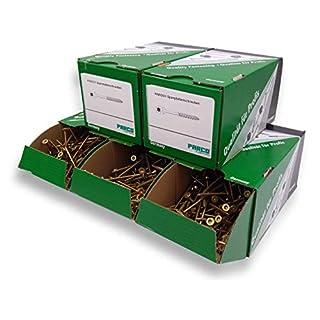 PARCO Spanplattenschrauben Sortiment, Senkkopf, Torx, Profipaket - 1400 Stück