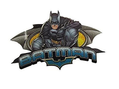 Batman Logo D.C comics smooth style iron on heat transfer or sew on embroidered clothes patch by fat-catz-copy-catz (Smooth Batman Dark Knight No:2)