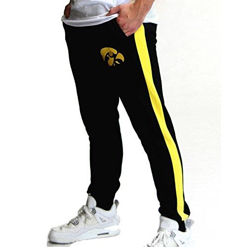 Twin Vision Activewear Herren Fleece-Jogger Iowa Hawkeyes NCAA - Schwarz - Klein -