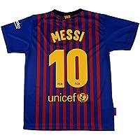 Barcelona Camiseta Réplica Infantil Primera Equipación 2018/2019 - Dorsal Messi 10 -