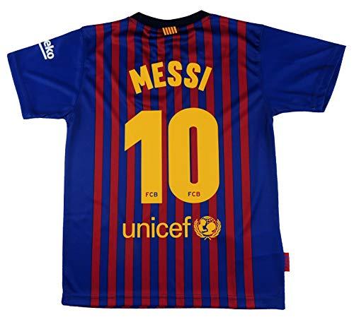 FC. Barcelona Camiseta Réplica Infantil Primera Equipación 2018/2019 - Dorsal Messi 10...