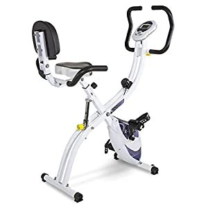 41Ax7KkTV3L. SS300  - Tecnovita by BH X-TRI2 YF910. Maximum comfort, minimum space. Foldable home fitness bike. Folding exercise bike. Workout bicycle. 3 positions. 8 intensities. Ergonomic seat. LCD monitor. White