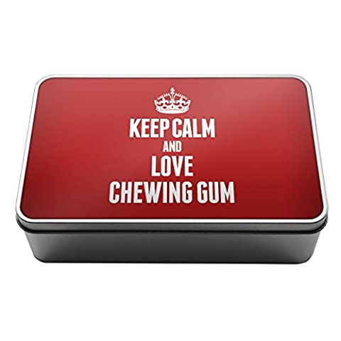 Rouge Keep Calm and Love Chewing Gum Boîte de rangement