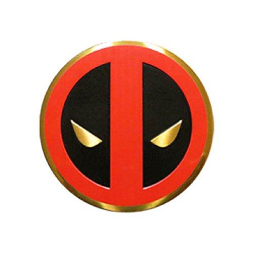 Preisvergleich Produktbild Classic DEADPOOL Icon, Officially Licensed Marvel Artwork, Premium Vinyl Gold Metallic Finish, 5cm Metal Sticker Aufkleber