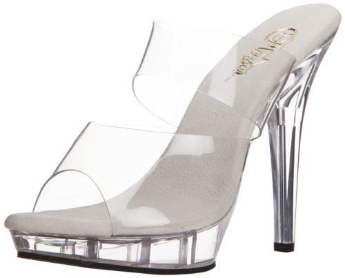 Pleaser LIP-102, Damen Sandalen, Transparent (durchsichtig), 41 EU (8 UK) 5-zoll-heel Classic Pump