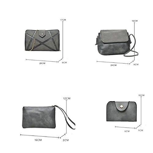 Damen Handtaschen Sommer Europa Und Amerika Spliced Blöcke Damen Clutch Schulter Diagonale Tasche Black