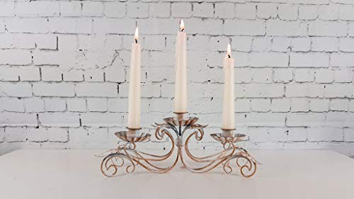 HomeZone Rustikale Antiker Stil 3 oder 5 Arm Vintage Eisen Konus Kerzenständer Weihnachten Tisch Tafelausatz Französischer Armleuchter Kerze Brücken Kunstvoll Getragen Elegant Wohndeko Kerzenleuchter -