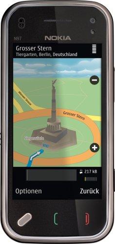 Nokia N97 mini Smartphone (UMTS, WLAN, GPS, 5 MP, Ovi Karten, QWERTZ-Tastatur) cherry black Mini N97 Handy