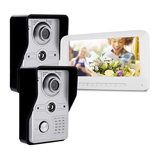Immagine di Kit Videocitofonico Campanello Kit Citofono Campanello Smart Videocitofono Intercom Wifi/wireless Con 7 Pollici Tft Lcd Screem Funzione Di Visione Notturna(EU)