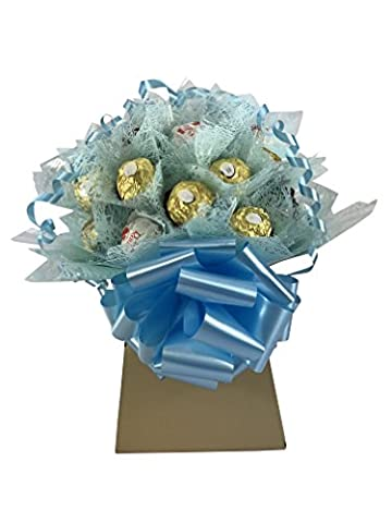 Luxuary Ferrero Rocher Collection XL Chocolate Bouquet 30 Piece Tree Explosion Gift Hamper Selection Box - Perfect Gift (Blue)