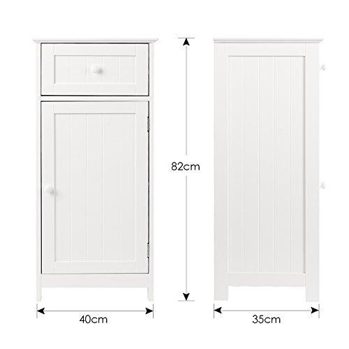 HOMFA 2 Set Armario para baño Mueble Suelo para baño Armario Dormitorio con  1 Caja y 37ec9b38cc21