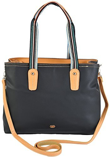 david-jones-lightweight-grab-crossbody-shoulder-handbag-11-fab-colours-3824-3-black-silver-badge