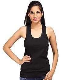 ALBATROZ Cotton T Back Ladies Plain Spaghetti Tank Top Vest Camisole Sando for Women